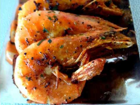 Recette du sauté de crevettes au poivre vert