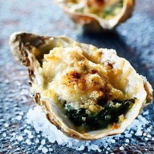 Recette d'huître gratinée, pousse d'épinard chez pierrot