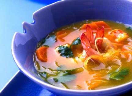 Recette de bouillon de crevettes à Marseille