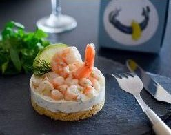 Cheesecake de crevettes et citron vert