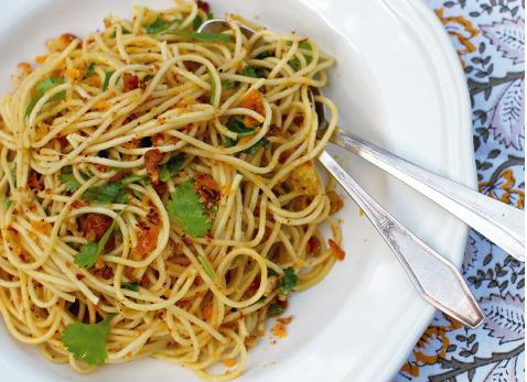 Recette des spaghetti à la Poutargue chez Pierrot