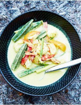 Recette de la Spicy soup aux crevettes chez pierrot