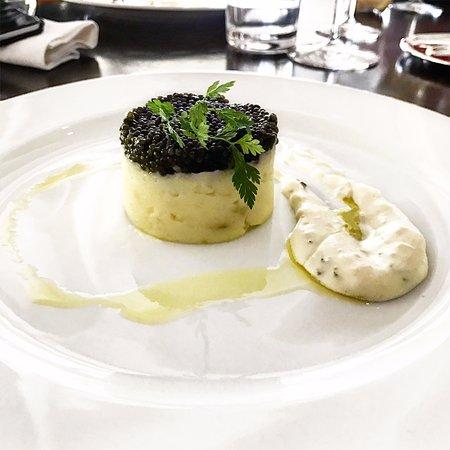 Recette écrasé de pomme de terre & caviar