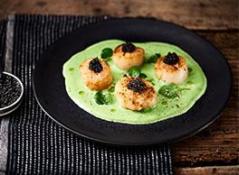 Recette des Coquille Saint Jacques snackées & Caviar